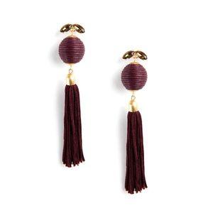 Silk Tassel and Swarovski Crystal Earrings